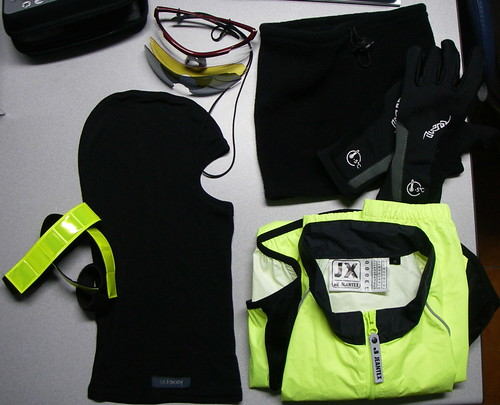 Cold night cycling gear – bit more
