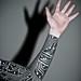 Electronic inspired blackwork sleeve tattoo by Zak Henry