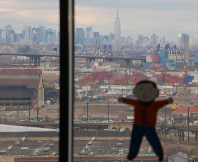 Flat Stanley Checking Out Manhattan from Newark