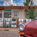 Red VW and Gas Pumps on Route 66 in Grand Canyon Caverns, Arizona in HDR by eoscatchlight