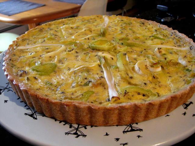 Leek and spring garlic tart with a spelt crust | Flickr ...