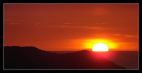 ocean sun sunrise newfoundland stjohns