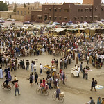 Imagine de Place Djemaa el-Fna. djemaaelfna marrakesh morocco 1988 exfordy