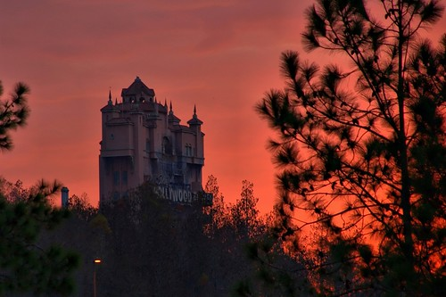 Disney - Hollywood Tower Hotel from World Drive