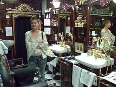 Chantel at The Old'e English Shaving Shop, V&A Waterfront, Cape Town