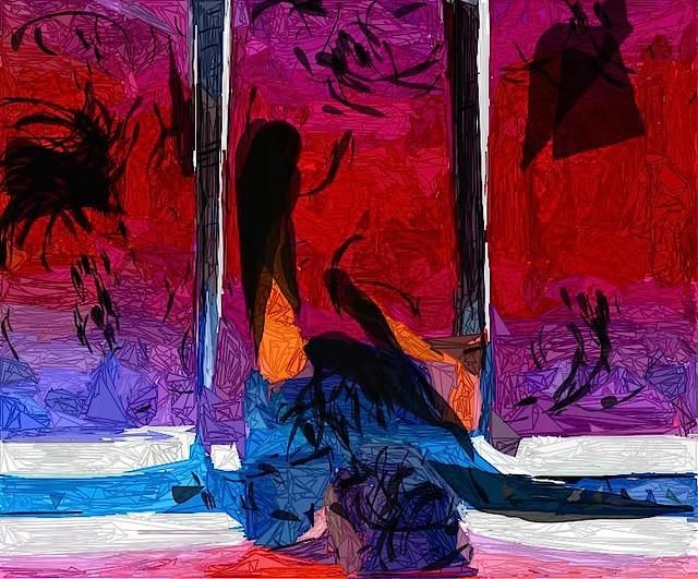 painted video stills