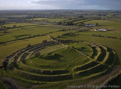 rathramultivallateenclosure ringfort castlerea countyroscommon rathcroghancomplex archaeology archaeological kiteaerialphotography kap april2016