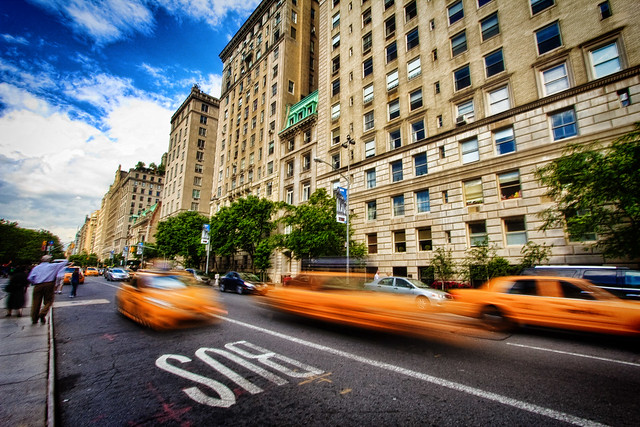 NYC Cabs Zooming By