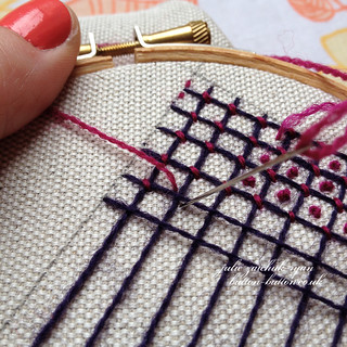Crewel Filling Stitches - Sampler #6