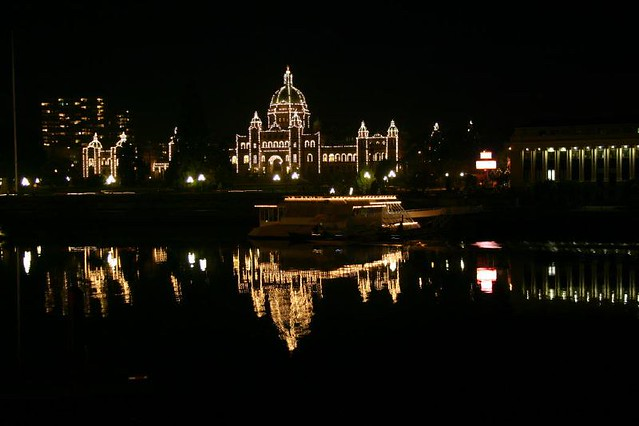 Victoria BC Night Scene
