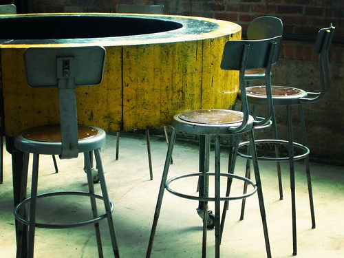 Tall Chairs Round Table