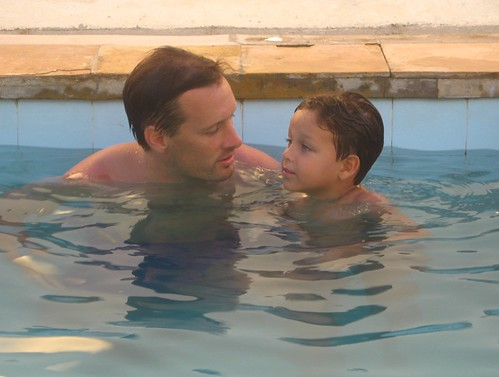 boy man pool father son piscina peter danny ceara iguape views1000
