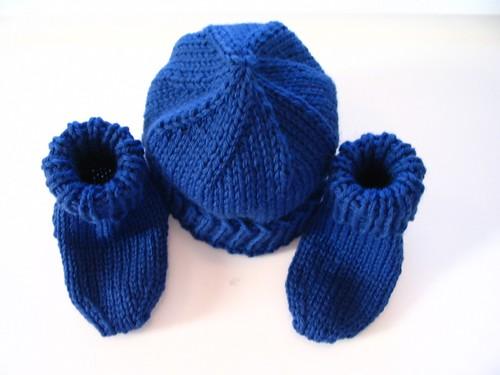 Blue hat and socks