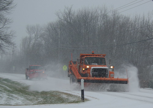 Snowplow on Donges Bay Road - Mequon WI