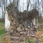 There is a rarely seen stone privy to the rear of the house which appears to be an early structure behind George Douglass Mansion