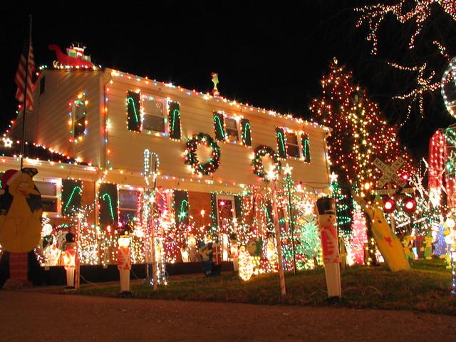House Lit Up For Christmas