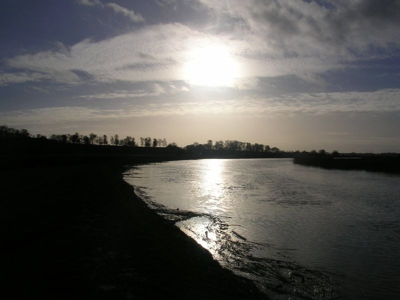 Sun over Arun Amberley to Arundel