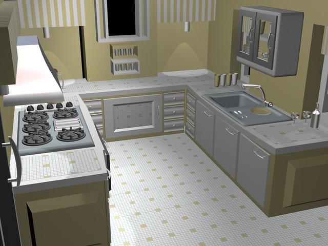 3ds max kitchen flickr photo sharing for Kitchen set 3ds max