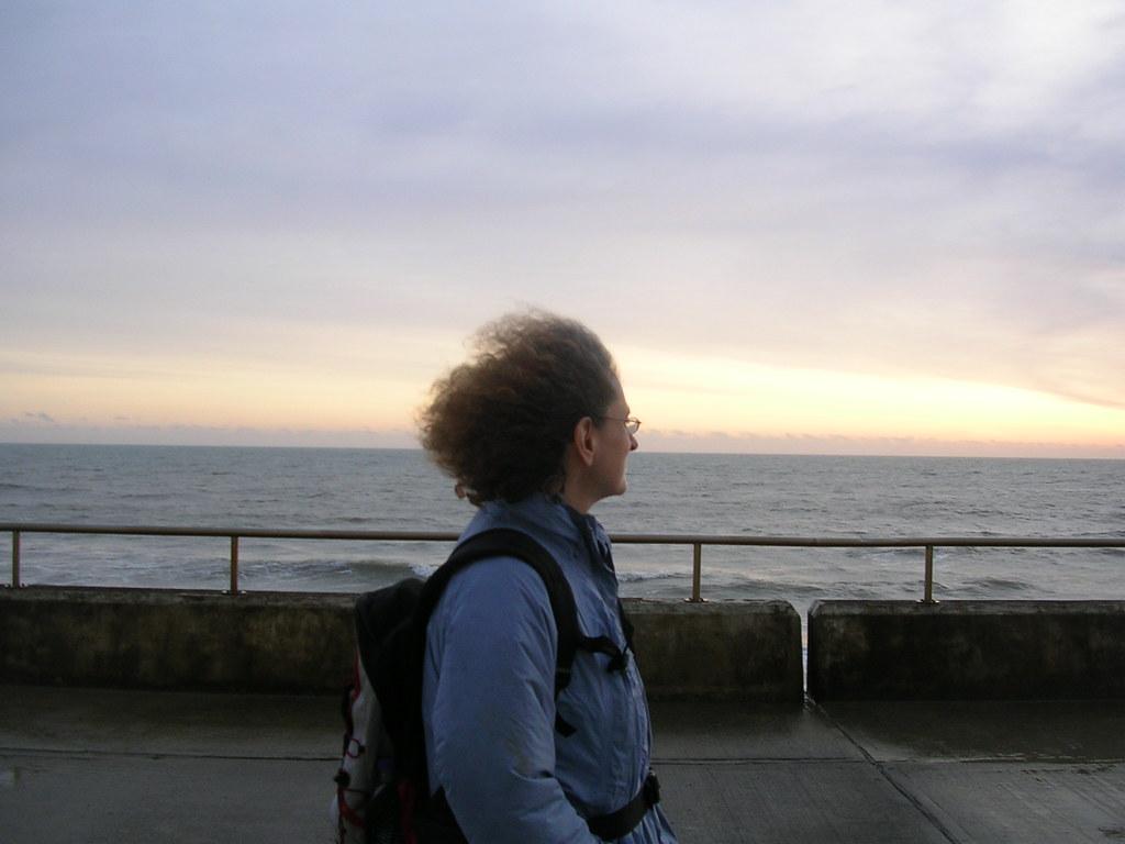 At the sea Saltdean. Lewes to Saltdean via Rodmell