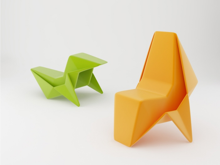 Origami chair for Chaise origami