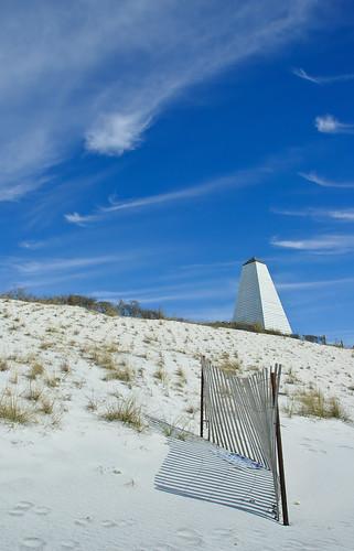 white clouds coast seaside florida obelisk pavilion walton highway30a
