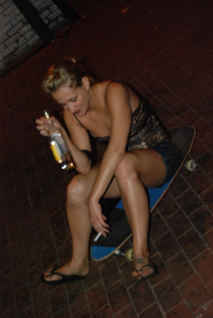 Drunk girl feet