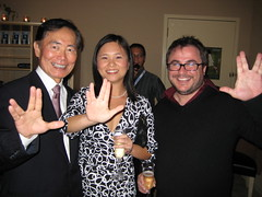 Throwing gang signs with Sulu