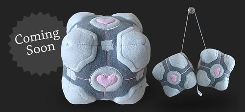 Weighted Companion Cube Plushies