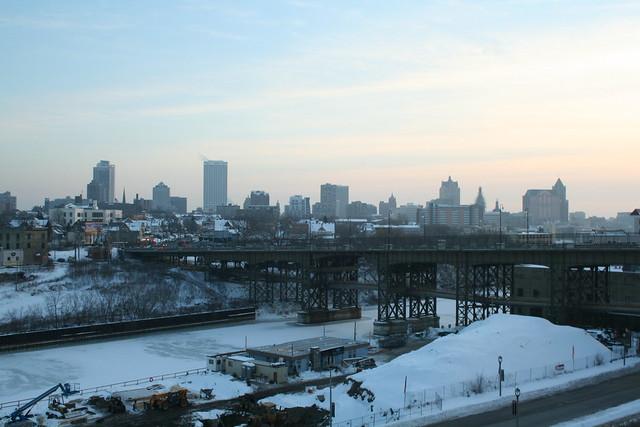 Holton Street Viaduct and Milwaukee Skyline