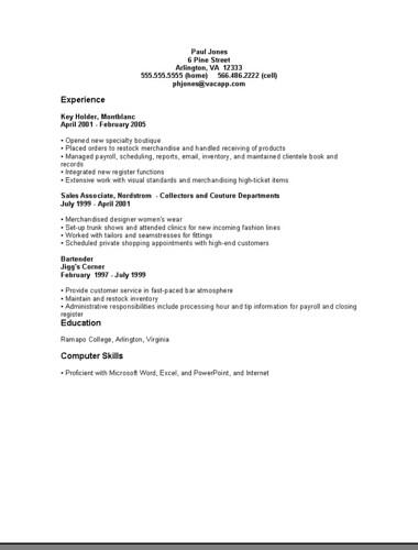 chrono resume about chrono chronological resume