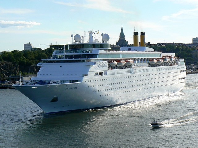 Costa Classica cruise ship in Stockholm