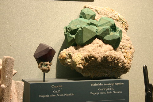 Cuprite and Malachite (coating cuprite)