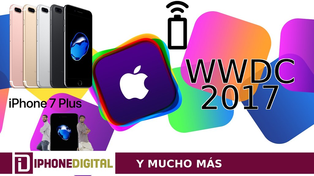 WWDC 2017 el 5-9 junio Apple Wireless Power Consortium problemas iPhone 7 Plus Jet Black cae pintura