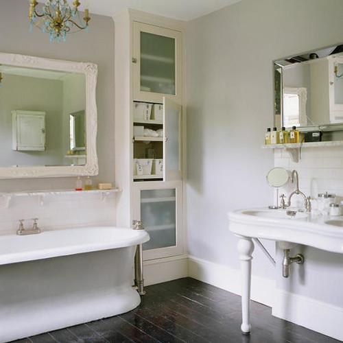 Pale Bathroom Dark Wood Floor Flickr Photo Sharing