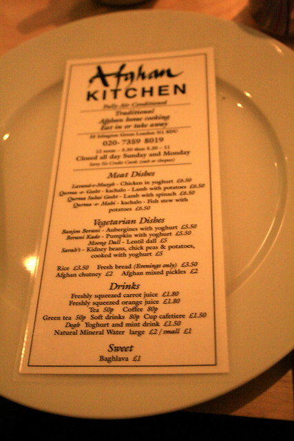 Afghan Kitchen Menu Flickr Photo Sharing