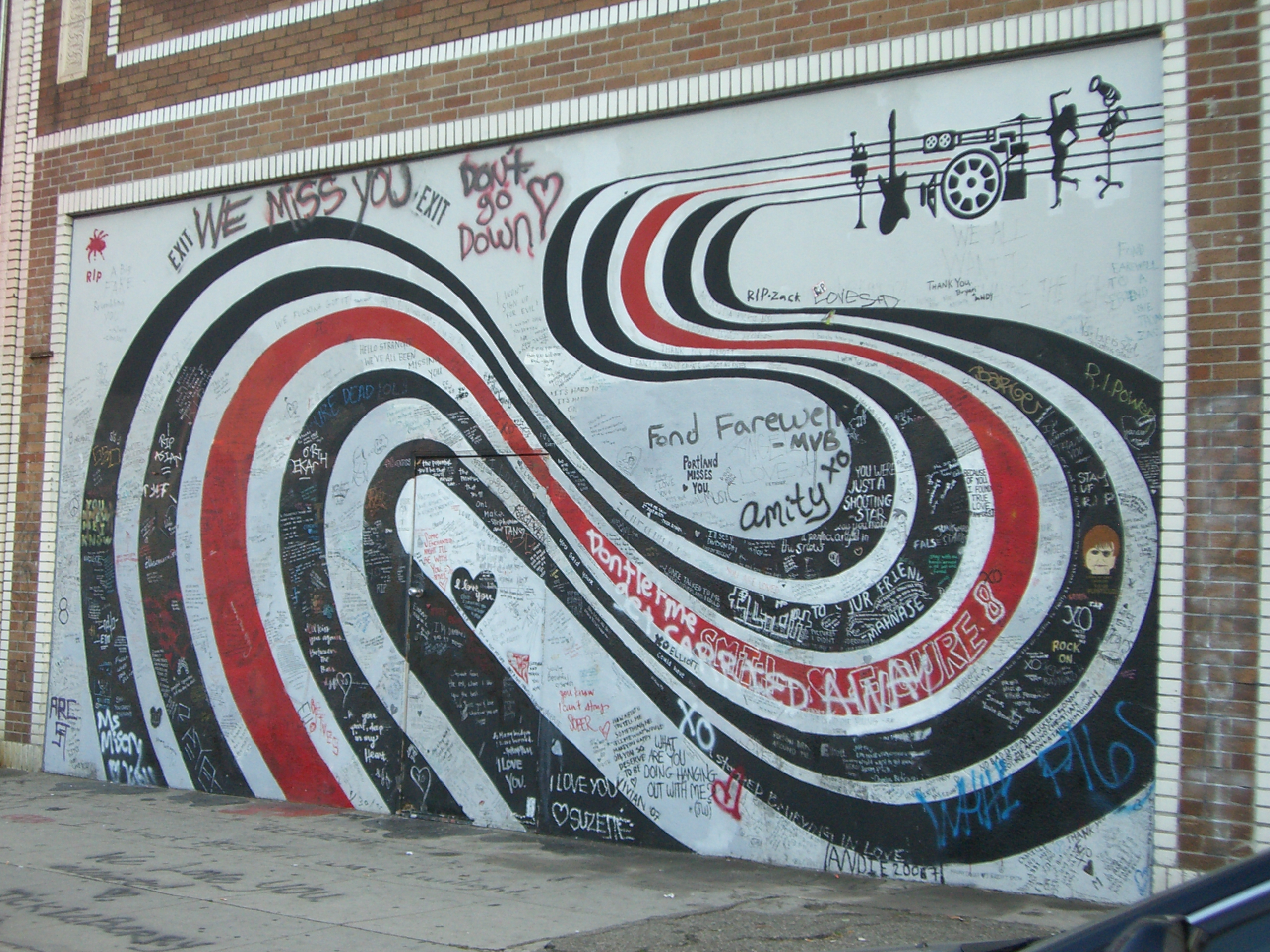Elliott Smith Wall - LA's Music Scene