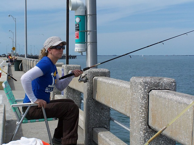 Saltwater fishing off of sunshine skyway pier flickr for Saltwater pier fishing