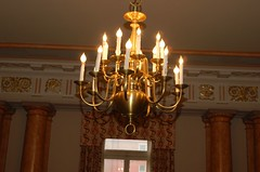 chandelier and columns