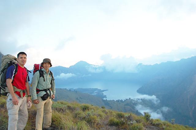 Mr Happy Adventure Team with Bohari Adventures trekking package mount Rinjani 4 day 3 night