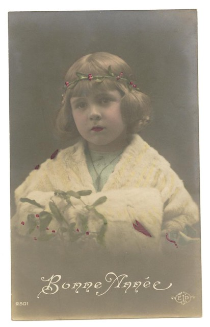 vintage french christmas postcard circa s flickr