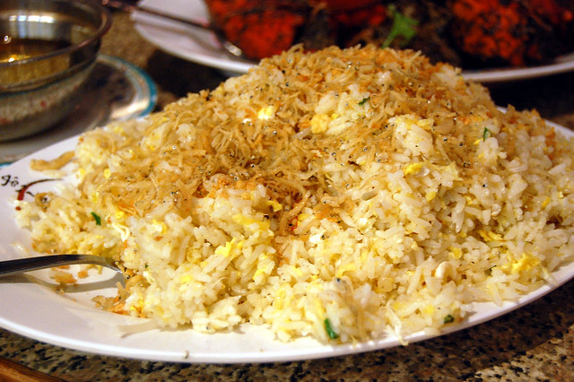 Silver fish fried rice flickr photo sharing for Fish fried rice
