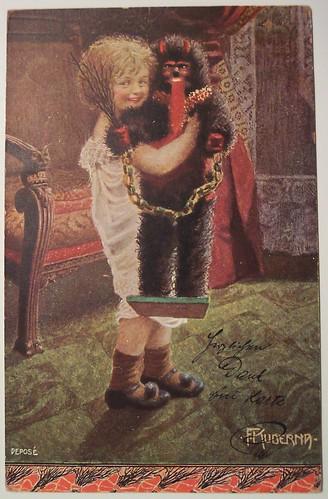 Vintage Christmas Postcard      Krampus