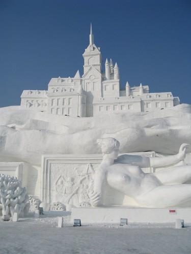 Eis-Festival in Harbin: Stadt aus Eis