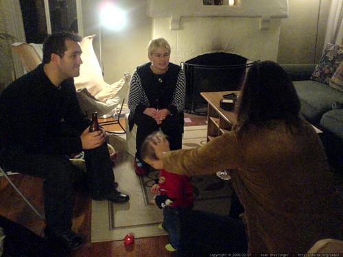 chris lepard and sally talking with rachel   DSC00460