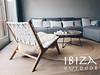 vintage loungestoel wit leer