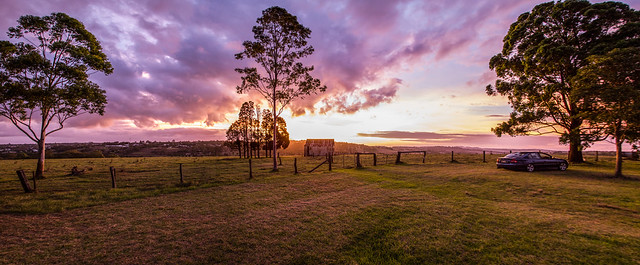 Sunset Pano in Toowoomba