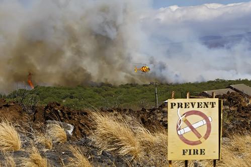 hawaii published helicopter cnn bigisland firestation wildfire wht puako