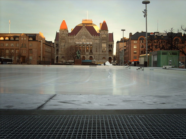 An ice ring in Helsinki