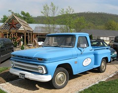 ford f-series(0.0), chevrolet task force(0.0), automobile(1.0), automotive exterior(1.0), pickup truck(1.0), vehicle(1.0), truck(1.0), chevrolet c/k(1.0), compact car(1.0), land vehicle(1.0),