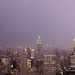 Lightning illuminates Manhattan sky